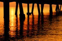 Seascapes - Sunrise under a Pier