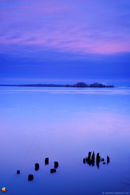 Daybreak Glow over Niagara River, Black Rock Canal Park, Buffalo, NY