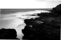 Makawehi Lithified Cliffs, Zero Image 35mm Pinhole Camera, Ilford PANF Plus 50 Black & White Film