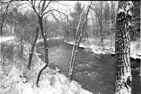 Eighteen Mile Creek Bend in Winter, Hamburg, NY on Film