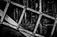 Old Ladder in an Old Shed, Southern Moravia, Czech Republic. Starý žebřík ve staré kůlně, jižní Morava, Česká republika.