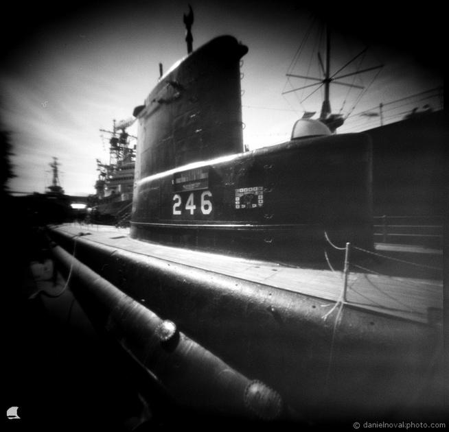 USS Croaker 246, Pinhole Photography, terraPIN ACME, Fuji Acros 100
