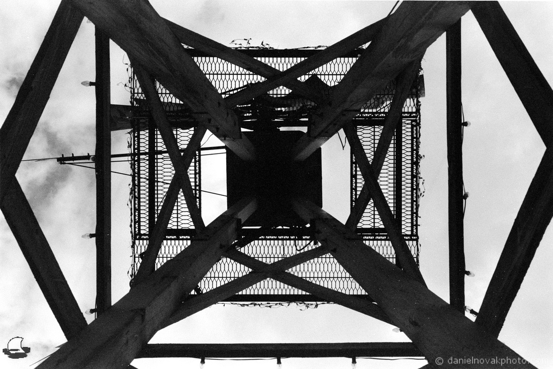Tower Symmetry, Industrial Artwork at Winter's Pond, Langford, New York