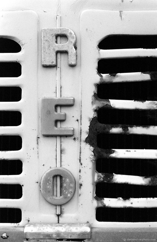 REO Face to Face, Vintage Truck Grill at Winter's Pond, Langford, New York