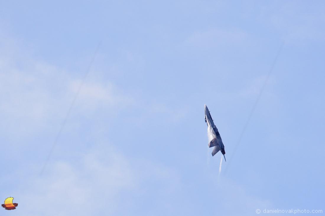 RCAF McDonnell Douglas CF-18 Hornet over Buffalo, NY
