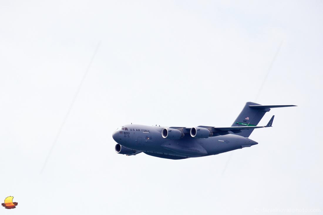 USAF Boeing C-17 Globemaster over Buffalo, NY