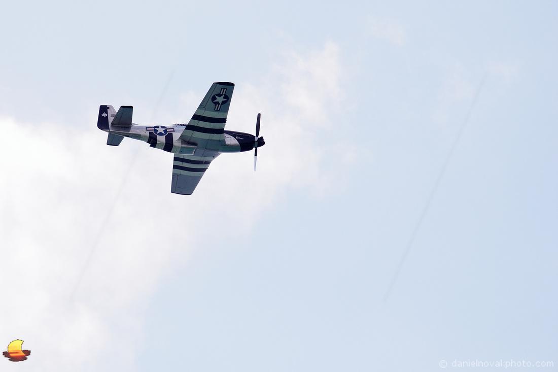 P-51 Mustang Quick Silver over Buffalo, NY