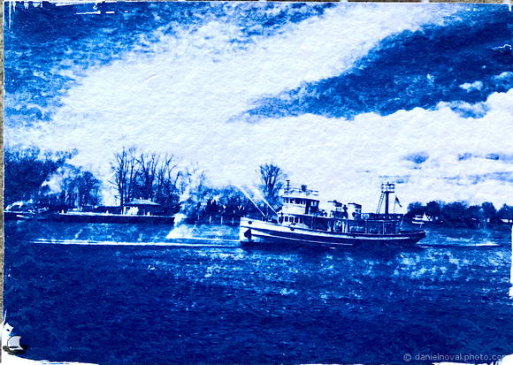 Edward M Cotter's Solo Show Cyanotype, Exposed and washed / developed in water