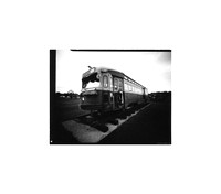 "Tram, Large Format Pinhole Photograph on 4x5"" Direct Positive Paper"