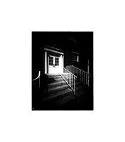 "Police Station, Large Format Pinhole Photograph on 4x5"" Direct Positive Paper"
