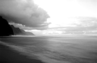 Ke'e Beach, 35mm Pinhole Photograph on Ilford PanF Black and White Film