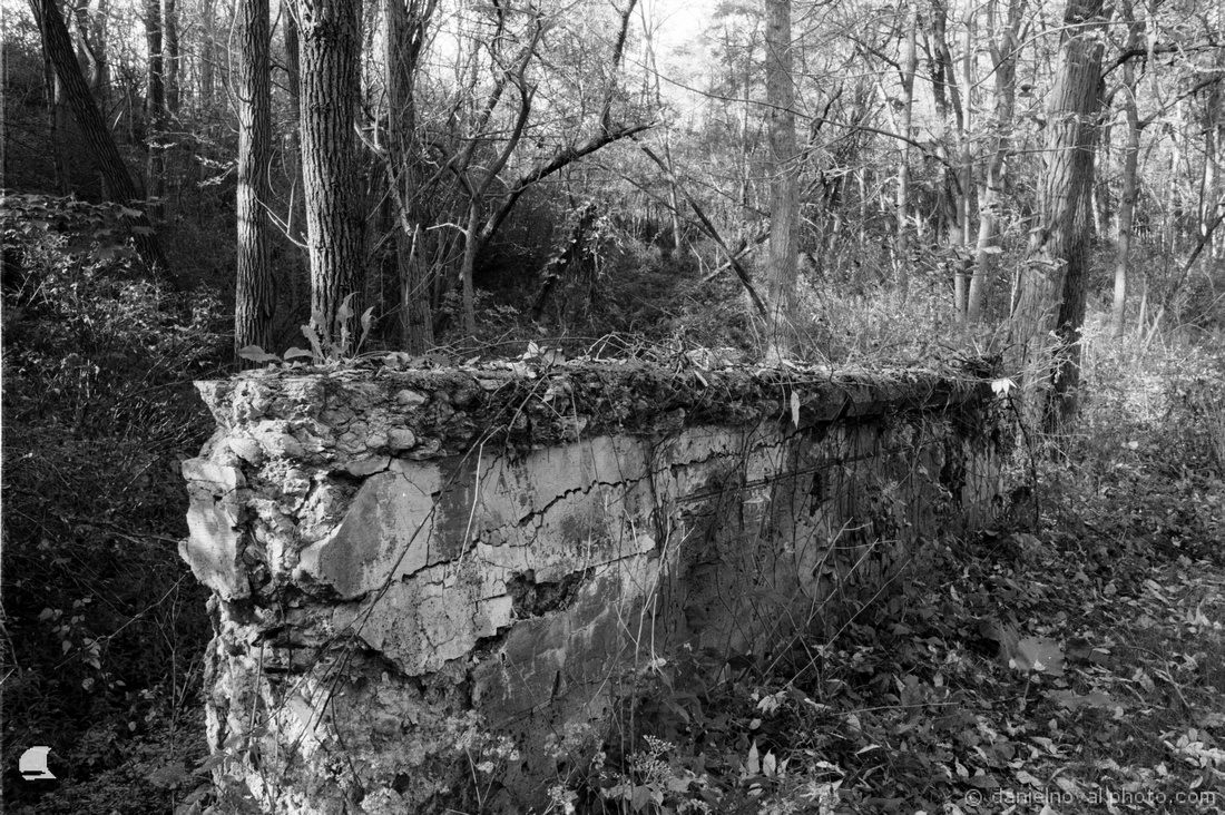 Film Photography: Old Bridge Wall, Letchworth State Park, Pentax Spotmatic and Fomapan 100
