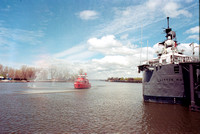 Film photography: Edward M Cotter & USS Little Rock, Canalside, Buffalo, NY