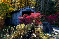 Fall Colors around Oak Hill Covered Bridge in New York State.