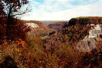 Sunny Fall Day at Big Bend in Letchworth State Park, New York