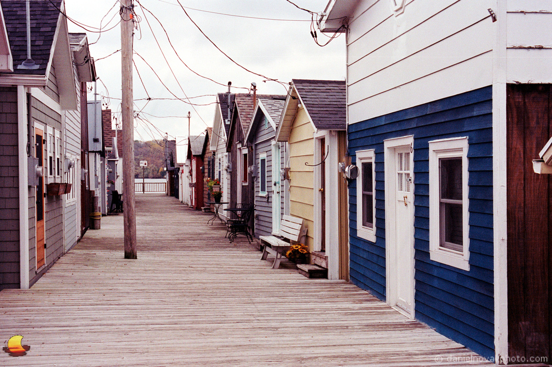 Colorful Boathouses, Canandaigua, New York