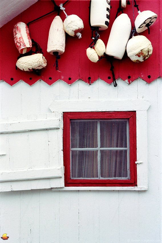 Boathouse Window in Red, Canandaigua, New York