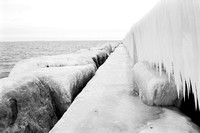 Icy Pier in Winter, Sturgeon Point Marina.