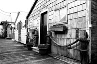 Boathouse Row in Black & White, Canandaigua City Pier