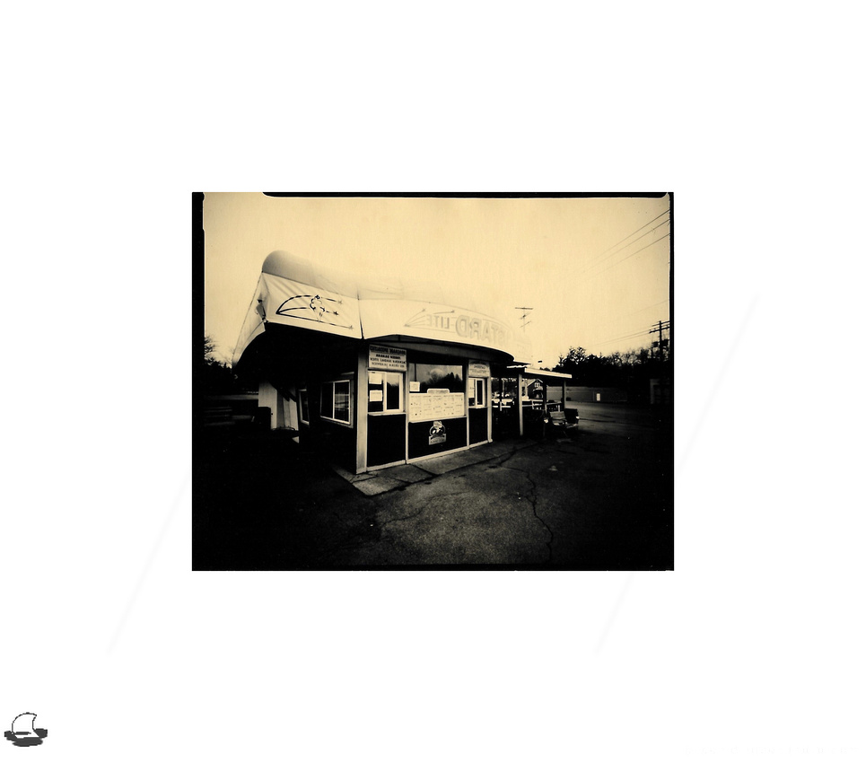 Custard Lite Ice Cream Stand, Lensless 4x5 Pinhole Camera, Ilford Harman Direct Positive Paper