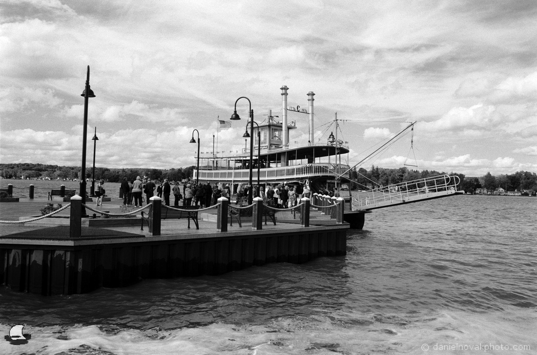 Passengers Boarding Chautauqua Belle at Chautauqua Harbor Hotel, Celoron, New York