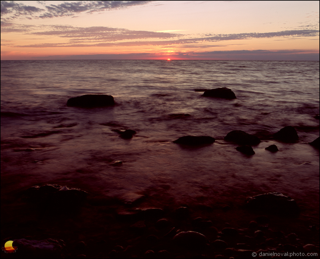 Dipping In, Lake Erie Lakeshore, Mamiya RB67 on Fuji Velvia RVP 100 slide film