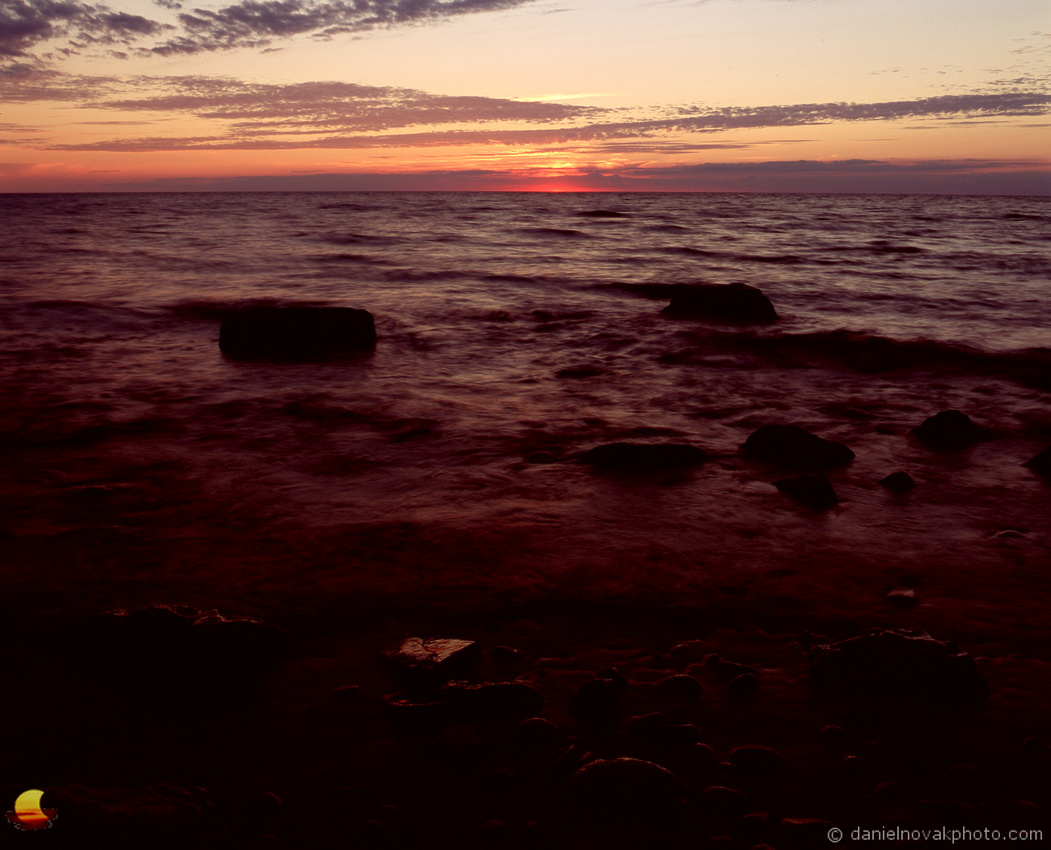 Sunset Glow, Lake Erie Lakeshore Mamiya RB67, Fuji Velvia RVP 100 slide film