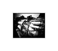 "Engine, Large Format Pinhole Photograph on 4x5"" Direct Positive Paper"