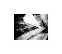 """Cadillac Double, Large Format Pinhole Photograph on 4x5"""" Direct Positive Paper"""