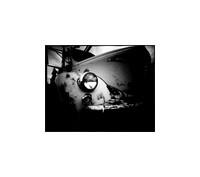 "Vintage Truck, Large Format Pinhole Photograph on 4x5"" Direct Positive Paper"