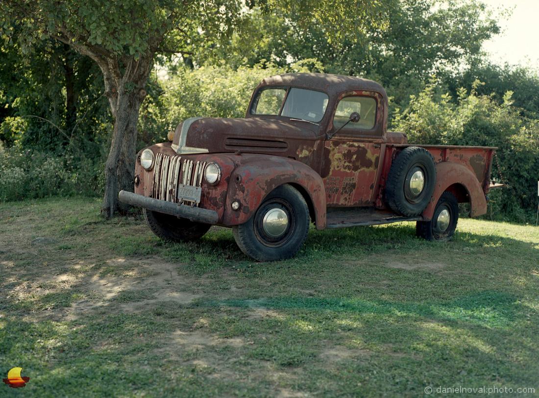 An Old Farm Truck, Sunflowers of Sanborn, New York