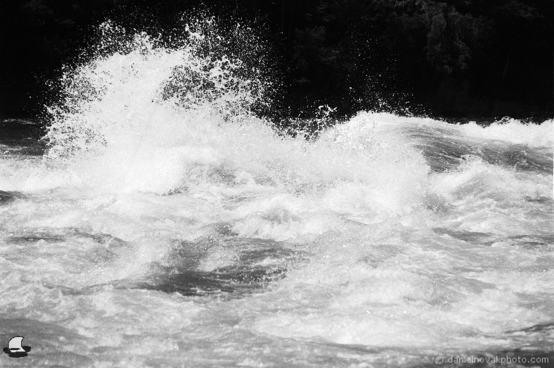 The Crash, Lower Niagara River Rapids, Nikon F4, Kodak Double-X 5222 Black & White Film