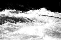 Lower Niagara River Rapids - The Wave Swell, Nikon F4, Kodak Double-X 5222 Black and White Negative Film