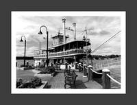 Historic Chautauqua Belle Steam Ship, hand-made traditional silver gelatin darkroom print