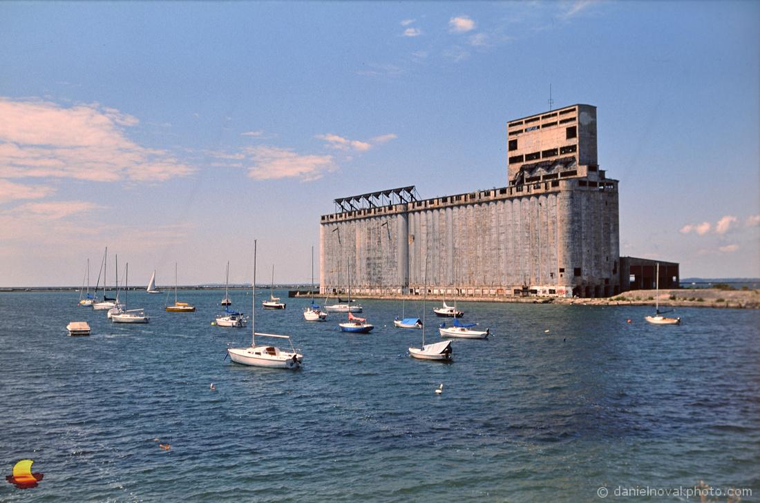 South End Marina and Cargill Pool Grain Elevator, Buffalo, NY; Photographed on Film