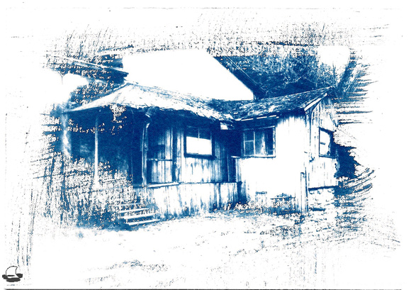 Old House Cyanotype - Washed in Vinegar