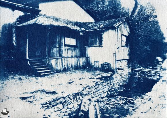 Old House Cyanotype - Heavier Sensitizer Coat
