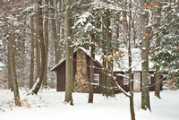 Cottage in the Woods in Winter