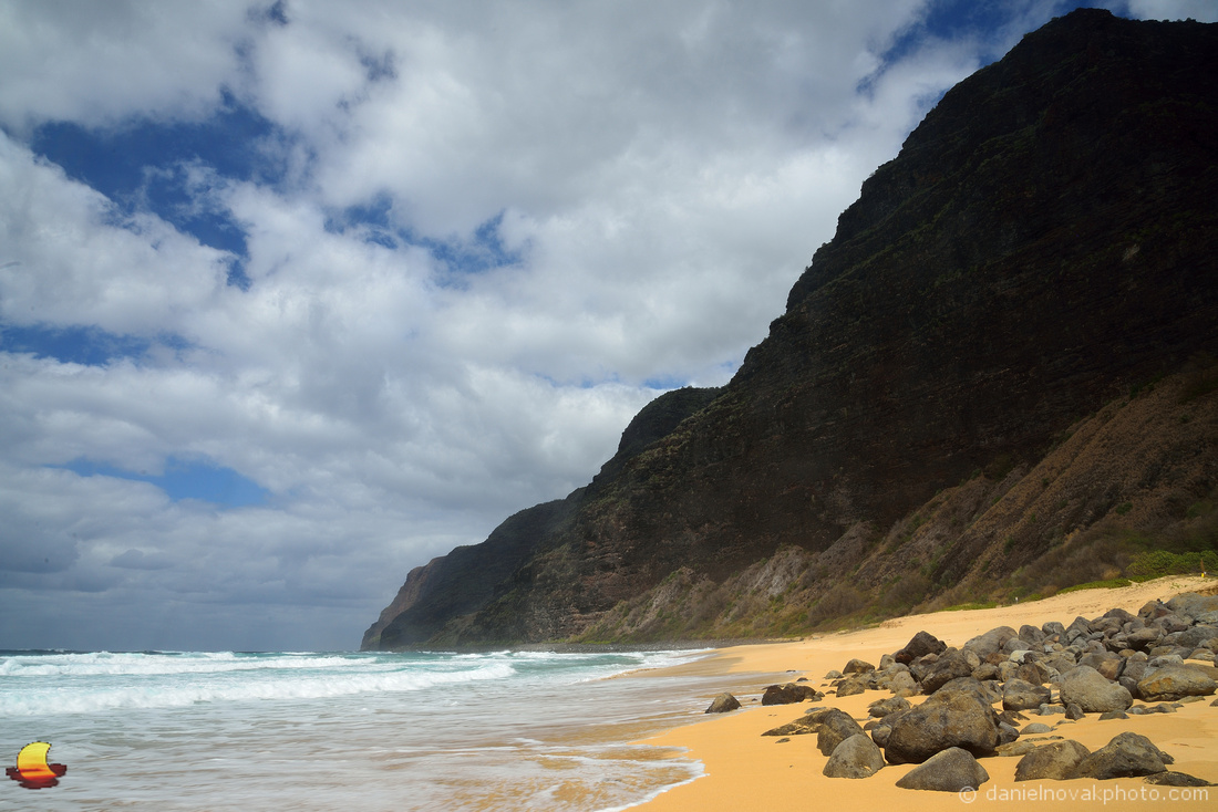 Polihale State Park Beach Rocks, Kauai, Hawaii
