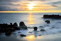 Seascapes - Hawaiian Sunrise in Florida, Anastasia Limestone in Place of Lava, Coral Cove Park, Juniper Island, Florida (FL)