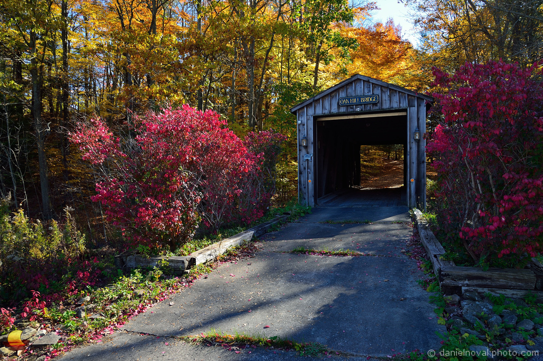 Oak Hill Covered Bridge, Fall Colors, New York State