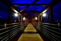 Buffalo Union Ship Canal Bridge in Blue