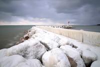 Bone Chilling Winter  Cold at Sturgeon Point Marina, Derby, - Evans near Buffalo, NY