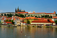 Prague Castle over Vltava River, Prague (Praha), Czech Republic