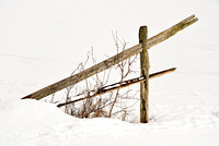 Fence in Snow at Knox Farm in Winter, East Aurora - Buffalo, New York (NY).