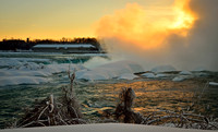 Niagara Falls Mist on Fire
