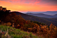 Shenandoah National Park Sunset View from Skyline Drive, Virginia (VA)