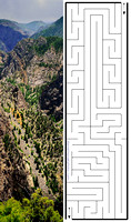 aMazing Bookmark - The Black Canyon of the Gunnison
