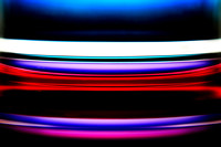 Colorful Abstract  Layers of a Glass, Corning Museum, New York (NY).