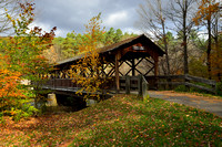 Thomas L. Kelly Covered Bridge in Colors, Allegany State  Park, Salamanca, New York (NY)